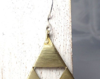 Golden triangles earrings