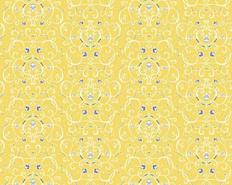 CLEARANCE - Penny Rose Fabrics - Meadow Sweets - Meadow Vines Yellow by Jililly Studios (C5652-YELLOW)