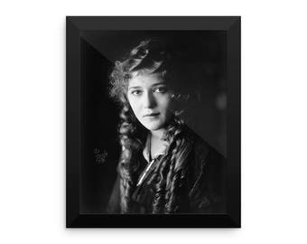 Vintage Movie Actress Mary Pickford Framed Poster