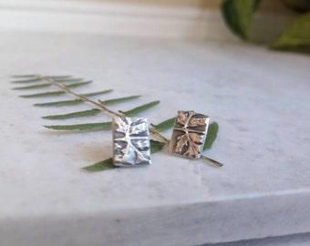 Botanical Fern stud earrings