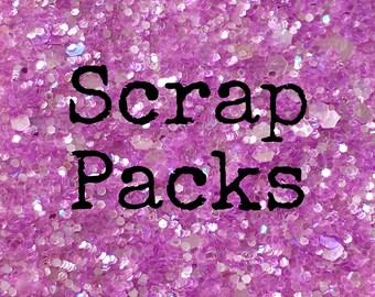 Scrap Pack - Choose from: Fabric Felt, Glitter Fabric, HTV, Velvet, Felt, Faux Leather