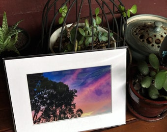 Cootharaba Sunset.  Mounted photo.  Unframed print.