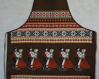 Vintage Folk Dancers Apron