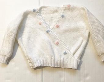 Girls Knit Ballet Wrap Sweater