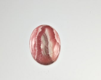 Pink Rhodochrosite oval cabochon