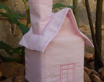 Rose cottage tissue with small pink flowers