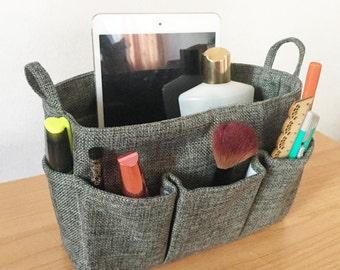 Grey Organizer Bag, Neverfull PM purse organizer, Cosmetic Bag