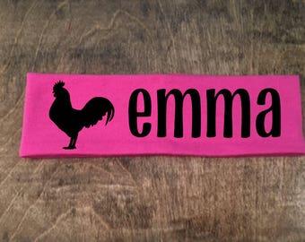 Chicken Coop, Rooster Headband, Chicken Headband, Show Chickens, FFA Chicken, 4-H Chicken, Personalized Chicken, Chicken Coop Decor, Chicken