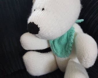 Handmade Knitted Polar Bear Toy