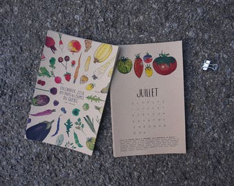 Small 2018 Calendar Fruits and Vegetables of Quebec