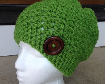 Bright Green Slouch Hat