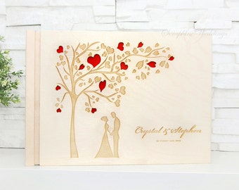Custom Wedding Guest Book, Wooden, Personalized Guest Book, Wooden Guestbook, Rustic Guestbook, Wedding Present, Bride and Groom, Guest Book
