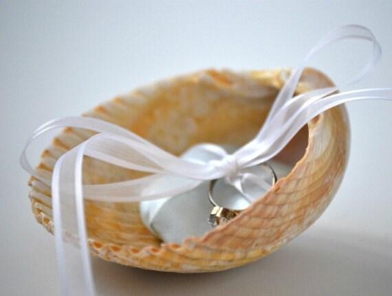Seashell Ring Bearer pillow alternative wedding ring pillow
