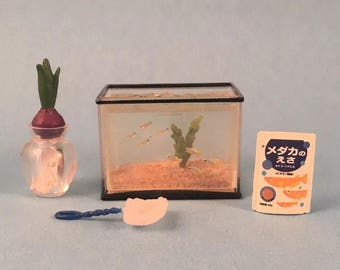 Dollhouse Miniature 1:12 Scale Aquarium Fish Tank Decoration Animal Pet