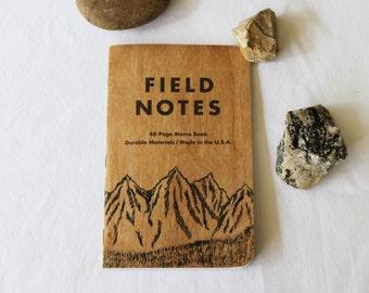Montagne de champ Notes cahier, à la main peint montagne, poche portable, petite randonnée le Journal