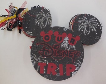 DISNEY mini album, Disney signature book, Disney scrapbook pages, OOAK Disney, mini album, disney, mickey mouse album