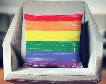 Gay Pride Pillow | Gay Pride Flag | LGBT Pride | Rainbow Pillow | Rainbow Throw Pillow | Rainbow Decor | Rainbow Flag | Rainbow Pride