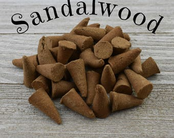 Sandalwood Incense Cones - Hand Dipped Incense Cones