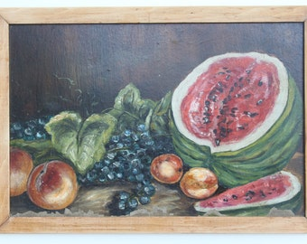 "Antique Painting  ""Fresh Fruits"""