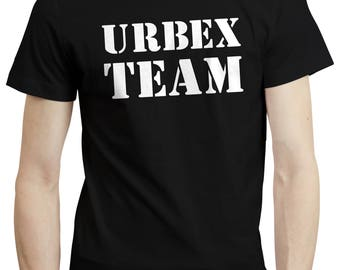 Team Urbex Urban Exploration Photographer Abandoned - Shirt T-shirt Tee Clothing