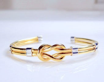 Infinity style cuff, 18kt solid gold