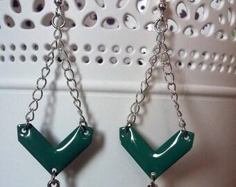 silvery blue Dragonfly earrings