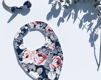English Rose Baby Bib & Sweetbow Headband Set