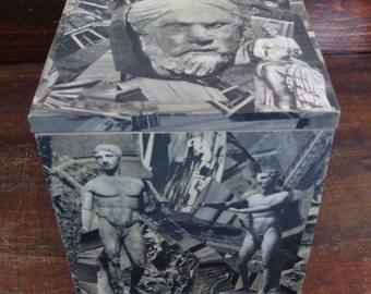 Sculpture Sarcophagus Art Box