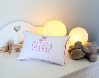 Princess Pillows For Girls - Name Pillow - Personalized Baby Pillow - Personalized Girl Pillow - Custom Princess Pillow - Baby Shower Gift