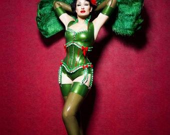 Miss Maple Latex Stockings