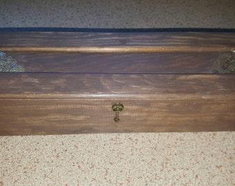 Steampunk cogs & key wooden box.