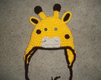 Newborn to Adult Giraffe Hat