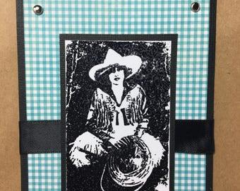 Cowgirl Gift Bag, Western Gift Bag, Vintage Cowgirl, Gift Bag,