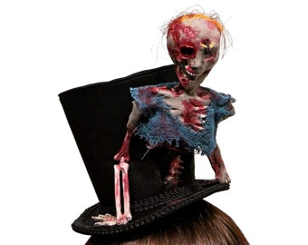 Crazed Zombie Top Hat ~ Made to Order