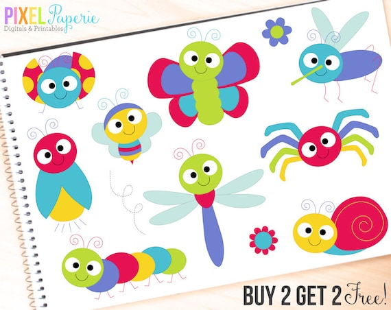 bugs clipart insects clip art ladybug lady bug bee butterfly rh etsy com cute bug clipart black and white cute bug clipart free