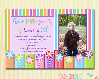 3 year old invite etsy girls lollipop birthday party invitation diy printable candy birthday photo invite 1 2 3 4 5 year old stopboris Choice Image