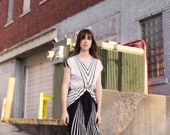 60s French Graphic Dress