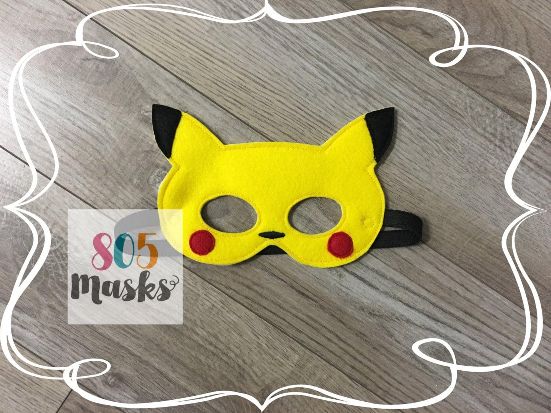 Pikachu Pokemon Inspired Masks Kids Masks Pokemon Costumes # Muebles Pokemon