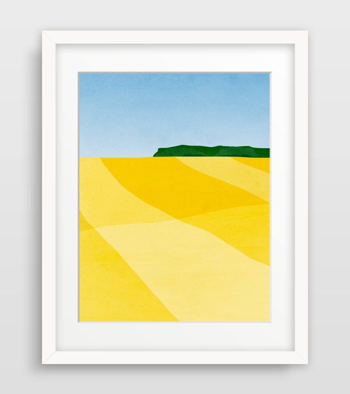 Modern Art Print Abstract Wall Art Abstract Landscape Mid