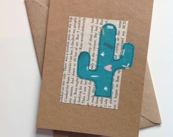 Cactus design card