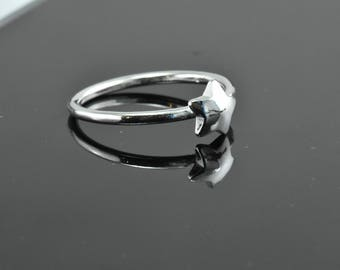 Star Ring, Dainty Ring, Sterling Silver Ring, Goldfilled Ring, Silver Star Ring, Modern Ring, Minimal Ring, Modern Jewelry, Minimal Jewelry