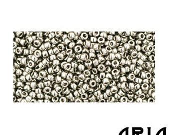 ANTIQUE SILVER (711): 15/o Toho Japanese Seed Beads (10 grams)