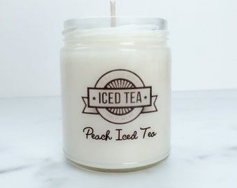 NEW Peach Iced Tea Soy Candle~Country Wedding Favors~Southern Gifts~Peach Candles~Southern Bridal~Southern Brides~Country Bridesmaid Gifts