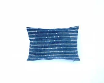 Boho Pillow Indigo Throw Pillow African Indigo Pillow Indigo Blue Pillow Decorative Pillow Cover 14 x 20