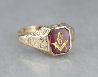 Antique Masonic Ring Etsy