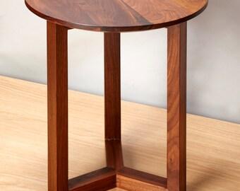 New Danish modern style side table Walnut wood