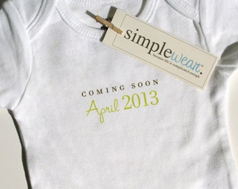 coming soon... baby bodysuit pregnancy announcement