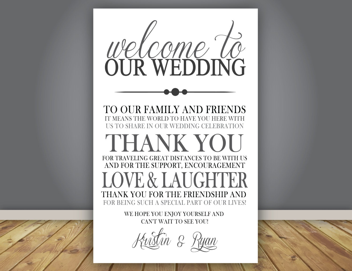 Thank You Letter For Wedding Guests