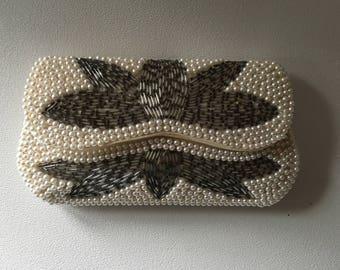 Vintage Pearls and Metal Mesh Handbag circa 1960s