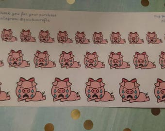 Pig Bad Day Planner Stickers